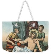 Station Xi Jesus Is Nailed To The Cross Weekender Tote Bag