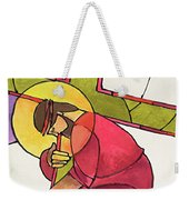 Stations Of The Cross - 03 Jesus Falls The First Time - Mmjff Weekender Tote Bag