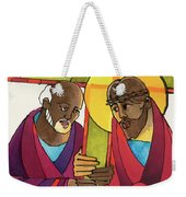 Stations Of The Cross - 05 Simon Helps Jesus Carry The Cross - Mmshj Weekender Tote Bag