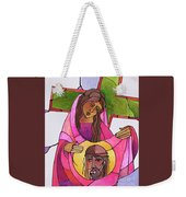 Stations Of The Cross - 06 St. Veronica Wipes The Face Of Jesus - Mmvew Weekender Tote Bag