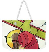 Stations Of The Cross - 07 Jesus Falls A Second Time - Mmjti Weekender Tote Bag