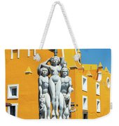 Statue And Yellow Theater Weekender Tote Bag