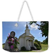 Statue At St. Mary's Church Weekender Tote Bag