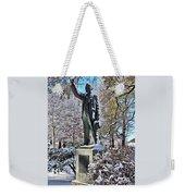 Statue In The Snow Weekender Tote Bag