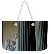 Statue Of Abraham Lincoln Is Seen Weekender Tote Bag