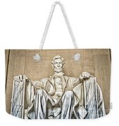 Statue Of Abraham Lincoln - Lincoln Memorial #3 Weekender Tote Bag