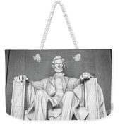 Statue Of Abraham Lincoln - Lincoln Memorial #4 Weekender Tote Bag