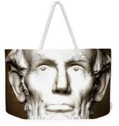 Statue Of Abraham Lincoln - Lincoln Memorial #5 Weekender Tote Bag