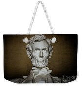Statue Of Abraham Lincoln - Lincoln Memorial #7 Weekender Tote Bag