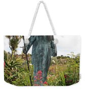 Statue Of Father Serra At Carmel Mission Weekender Tote Bag