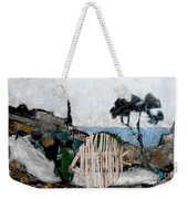 Statue Of Fish From Branches Weekender Tote Bag