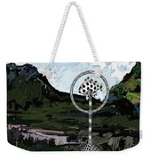 Statue Of Fish In The Field  Weekender Tote Bag