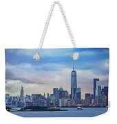 Statue Of Liberty And Manhattan Weekender Tote Bag