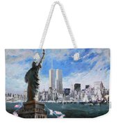 Statue Of Liberty And Tween Towers Weekender Tote Bag