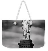 Statue Of Liberty At Dusk Weekender Tote Bag