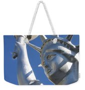 Statue Of Liberty Restaurant Courtyard Chandler Arizona 2005 Weekender Tote Bag