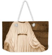 Statue Of Mary At Sacred Heart In Tampa Weekender Tote Bag