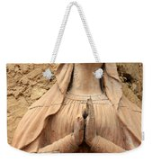 Statue Of Mary Closeup Weekender Tote Bag