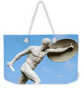 Statue Of Nude Man With Shield And Dagger Weekender Tote Bag