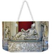 Statue Of The Greek River God Tiberinus At The Vatican Museum Weekender Tote Bag