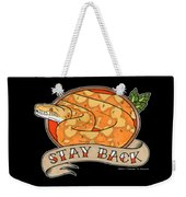 Stay Back Reticulated Python Weekender Tote Bag