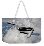 Stealth Bomber Over The Clouds Weekender Tote Bag