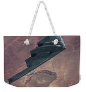 Stealth Over The Arizona Meteor Crater Weekender Tote Bag