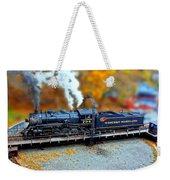 Steam Engine Tilt Shift Weekender Tote Bag