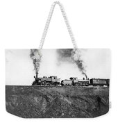 Steam Engines Pulling A Train Weekender Tote Bag