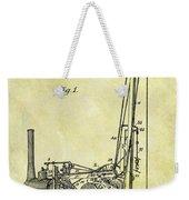 Steam Powered Oil Well Patent Weekender Tote Bag