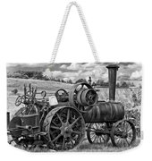 Steam Powered Tractor - Paint Bw Weekender Tote Bag