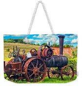 Steam Powered Tractor - Paint Weekender Tote Bag