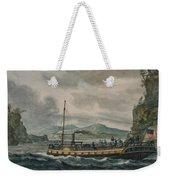 Steamboat Travel On The Hudson River Weekender Tote Bag