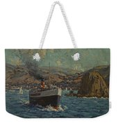 Steamer Leaving Avalon. Catalina Island Weekender Tote Bag