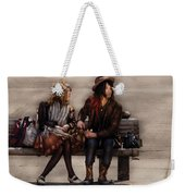 Steampunk - Time Travelers Weekender Tote Bag by Mike Savad