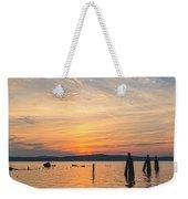 Steamy Hudson River Sunrise Weekender Tote Bag