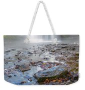 Steamy Morning At Pixley Falls Weekender Tote Bag