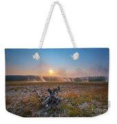 Steamy Sunrise In Yellowstone Weekender Tote Bag