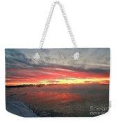 Steamy Winter Sunset Weekender Tote Bag