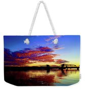 Steel Bridge Sunset Silhouette Weekender Tote Bag