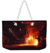 Steel Mill--china Weekender Tote Bag