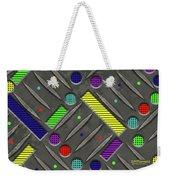 Steel Plate Geometrics Weekender Tote Bag