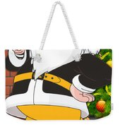 Steelers Santa Claus Weekender Tote Bag