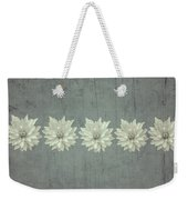 Steely Gray Rustic Flower Row Weekender Tote Bag