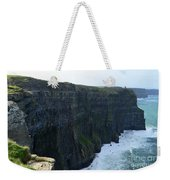 Steep Sheer Sea Cliff's Known As The Cliff's Of Moher Weekender Tote Bag