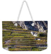 Steep Slope Viticulture In Valais Canton Weekender Tote Bag