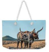 Steers In The Desert Weekender Tote Bag