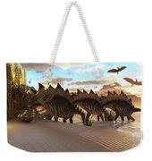 Stegosaurus Dinosaur Weekender Tote Bag