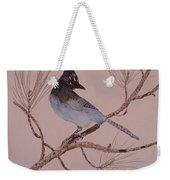 Stellar Jay On Ponderosa Branch Weekender Tote Bag