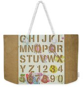 Stencil Alphabet Fun Weekender Tote Bag